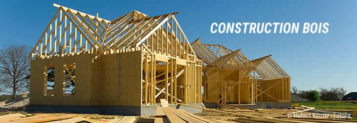 Maison à ossature bois en construction
