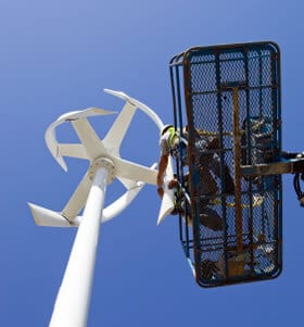 éolienne installation verticale
