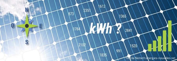 Panneau photovoltaïque : kWh ?