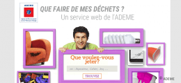Service web Ademe : que faire de mes déchets ?
