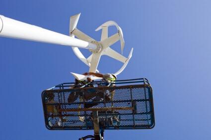 éolienne domestique installation en hauteur