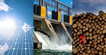hydraulique, solaire, biomasse