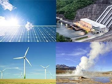 Les énergies renouvelables solaire éolienne hydraulique géothermique