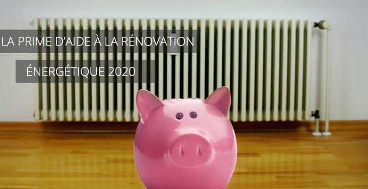 Prime unique d'aide à la rénovation énergétique 2020