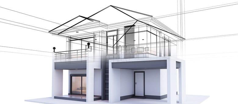 Eco-construction extension verticale d'une maison