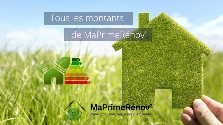 Montants de MaPrimeRenov