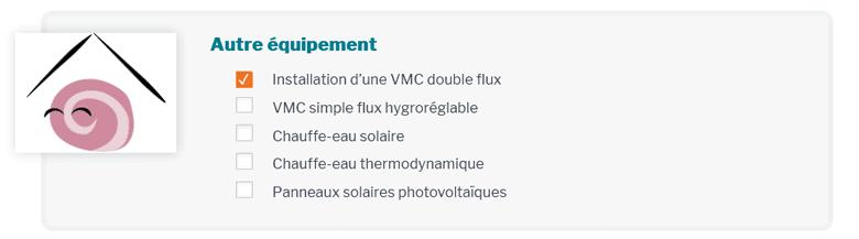 Simulation Aides - Projet Equipement VMC, chauffe eau et panneaux solaires